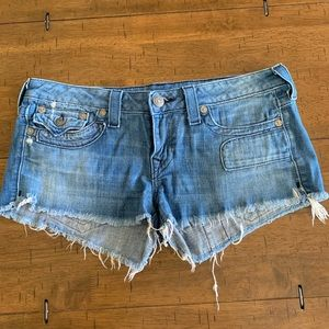 True Religion shorts size 31